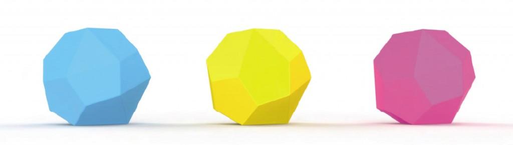 Les phonotonics en jaune, bleu et rose