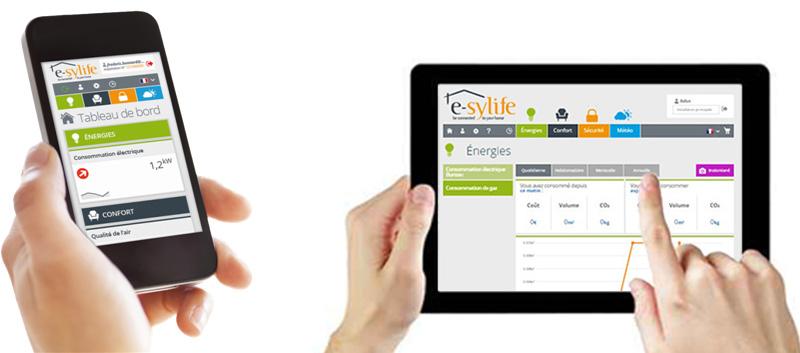 HDSN e-sylife sur smartphone et tablette