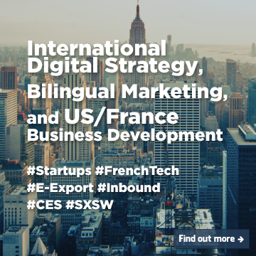 International Digital Strategy, Bilingual Marketing et US/France Business Development